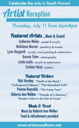 July 11 2013 Artist Reception
